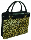 Leopard Print Purse Style Bible Cover, Large