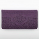 "Purple ""Trust"" Checkbook Cover"