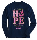 Jesus Is the Hope Anchor, Long Sleeve Shirt, Navy, Large