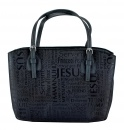 Names of Jesus Handbag Style Bible Cover - Black - Extra Large