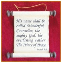 Scripture Scroll Ornament: Isaiah 9:6