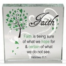 Faith Glass Paper Weight
