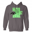 Faith, Family, Ducks Hoodie: Charcoal/Lime | XX-Large