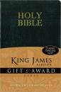 KJV Gift & Award Bible: Leather-Like | Black