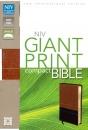 NIV Compact Bible: Giant Print | Italian Duo-Tone Sierra/Black