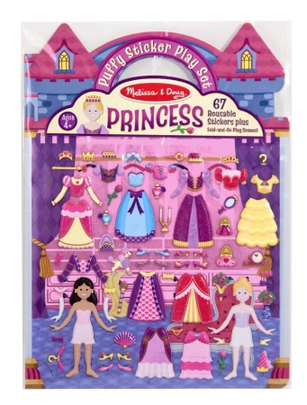 Puffy Sticker Playset: Princess
