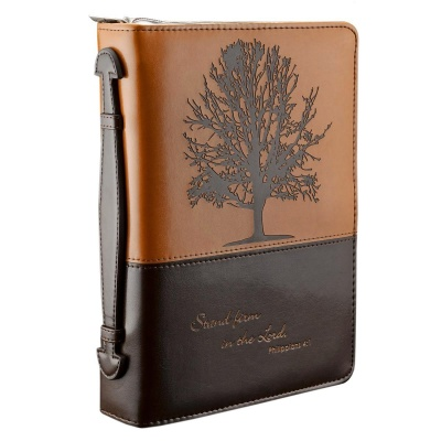 """""""Stand firm in the Lord"""" Two-tone Bible Cover (Large)"""