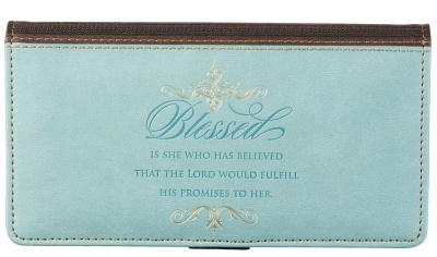Gray Checkbook Cover: Blessed
