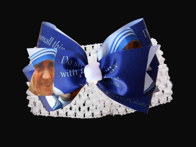 St. Mother Teresa Hair Bow (Band)