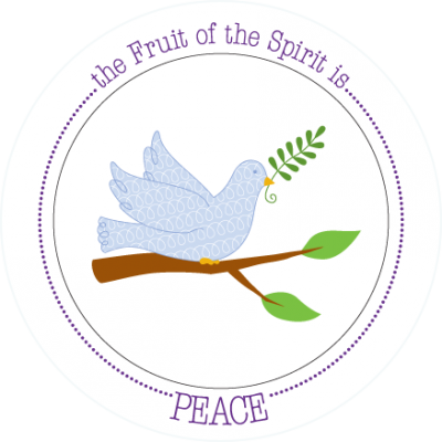 Fruit-Full Kids Plate: Peace