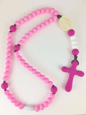 Double Pink Soft Rosary