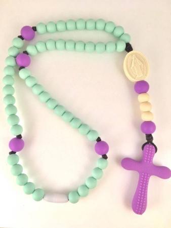 Mint & Purple Soft Rosary