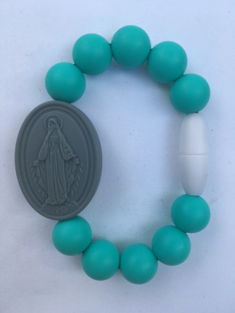 Turquoise Kids Miraculous Medal Bracelet