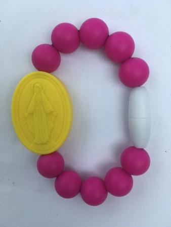 Magenta Kids Miraculous Medal Bracelet