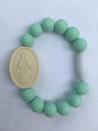 Mint Adult Miraculous Medal Bracelet