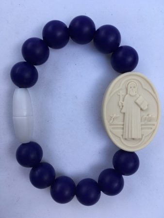 Navy Adult St. Benedict Medallion Bracelet