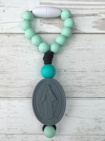 Mint Miraculous Medal Decade Clippie