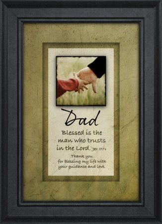 """Dad Plaque """"Blessed"""""""