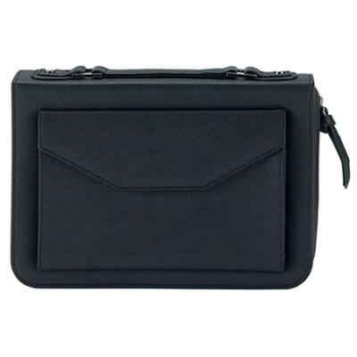 Black Envelope Pocket Bible Cover XL