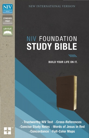 NIV, Foundation Study Bible, Imitation Leather, Brown