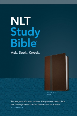 NLT Study Bible (Brown & Slate)