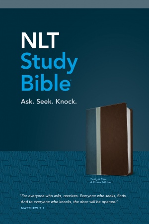 NLT Study Bible (Twilight Blue & Brown)