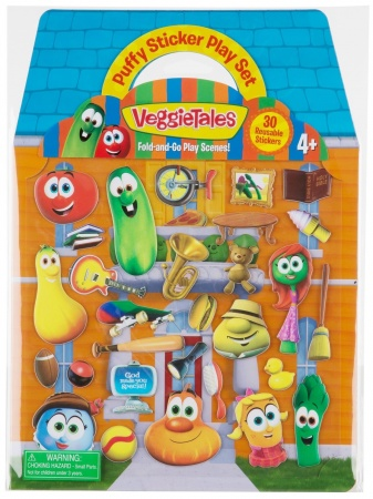 VeggieTales Puffy Sticker Set (Re-usable)