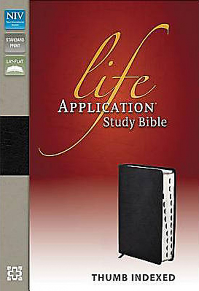 life application study bible niv by zondervan 2005 italian duo-tone leather